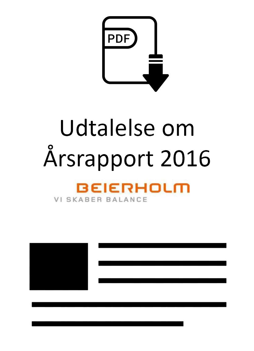 Udtalelse om Årsrapport 2016 udarbejdet af Beierholm